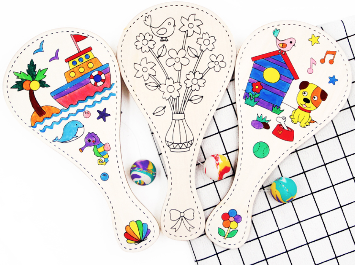 [DIY Craft] 2-in-1 Colouring Paddle Ball