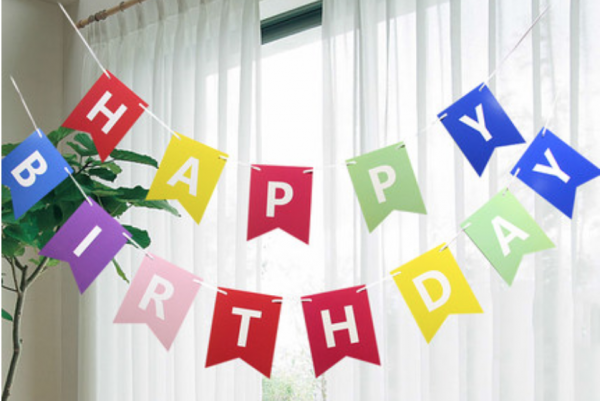 Happy Birthday Banner - MR Party - #1 Party Decorations Shop Singapore