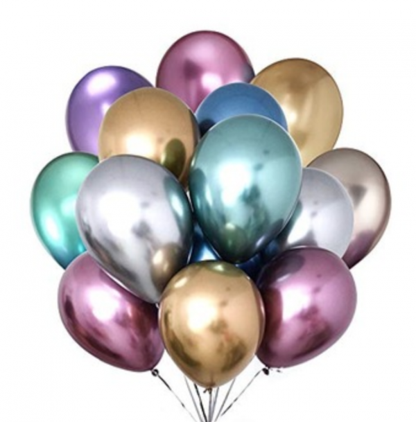 Chrome Balloons Singapore - 11 inch Latex Chrome Balloons @ MR Party
