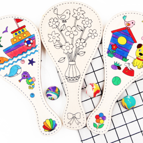 [DIY Craft] 2-in-1 Colouring Paddle Ball - MR Party - #1 Party Supplies Singapore