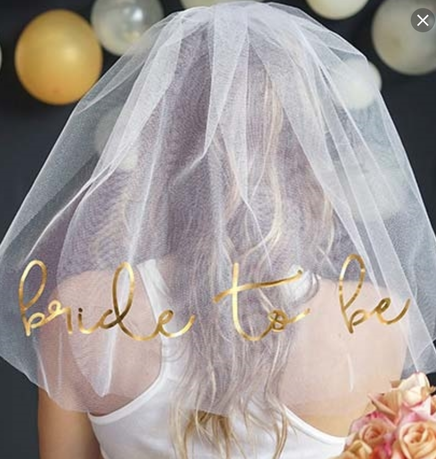 Bride To Be Veil - Wedding Party Supplies @ MR Party Singapore