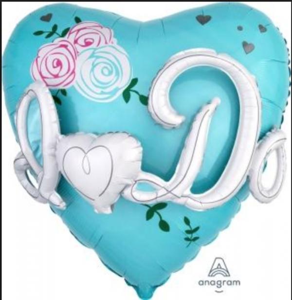 Jumbo I Do Heart Shaped Balloon - Wedding Party Decorations @ MR Party Singapore