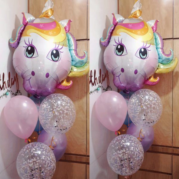 Magical Unicorn balloon cluster _ Party Balloons @ MR Party Singapore
