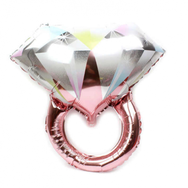 Rose Gold Diamond Ring Balloon @ MR Party Singapore