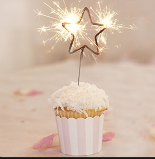 Golden Sparkles Candle @ MR Party - Cheap party store & suppplies Singapore