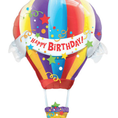 "[Party Supplies] Happy Birthday Hot Air Foil Balloon [Jumbo 42"" Shape] @ MR Party - Balloon Shop Singapore"