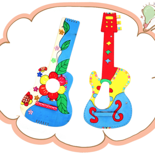 [DIY Crafts] 2-in-1 Colouring Guitar @ MR Party - Party Supplies Singapore