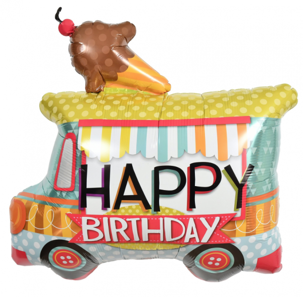 Happy Birthday ICE CREAM truck Foil Balloon @ MR Party - Balloon Shop Singapore