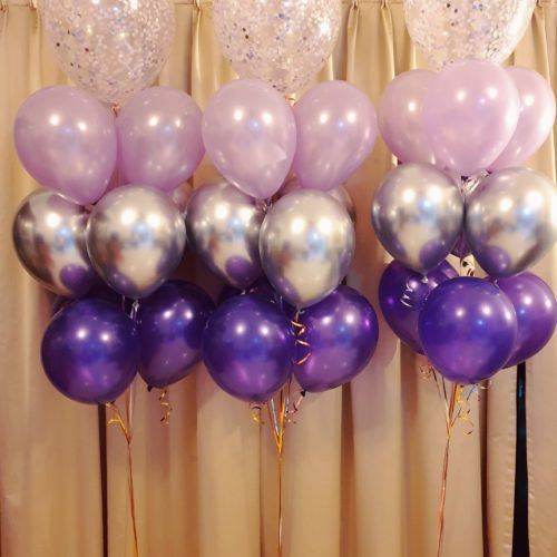[Balloon Cluster] Tri-Tone Classic Purple series @ MR Party - Balloon Shop Singapore