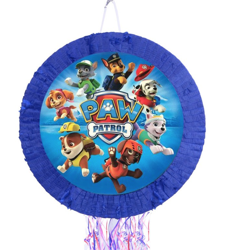 Paw Patrol Pinata (Round-Pull String) - Party Decorations @ MR Party Singapore