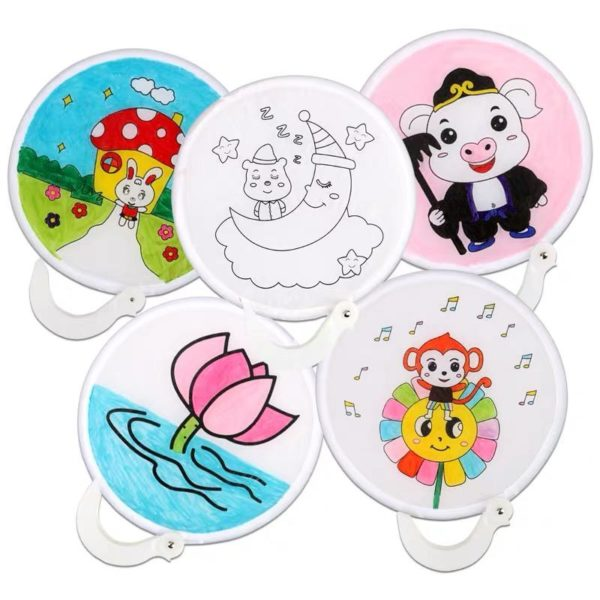 [DIY Crafts] 2-in-1 Colouring Foldable Fan _ MR Party