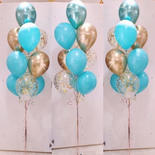[Balloon Cluster] Tri-Tone Tiffany Blue series @ MR Party - Balloon Shop Singapore